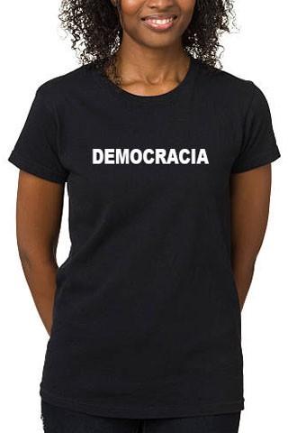 Camiseta Democracia feminina